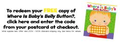 Free baby book Use code bellybutton at checkout. Absolutly Free