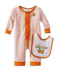 33% OFF Absorba Baby Halloween Coverall Set (Orange Stripe) #apparel #Kids