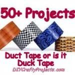 50+ Craft Projects Using Duck Tape or is it Duct Tape