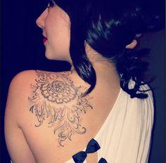 Tattoo- henna style.  Atomic Zombie Tattoo- Edmonton  By Jakob  I <3 it so