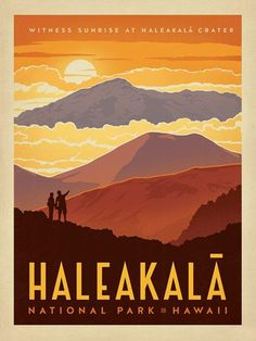 Haleakala National Park - Anderson Design Group has created an award-winning series of classic travel posters that celebrates the history and charm of America's greatest cities and national parks. Founder Joel Anderson directs a team of talented Nashville-based artists to keep the collection growing. This print celebrates the volcanic wonders of Haleakala National Park.