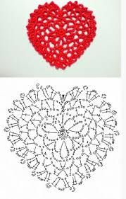 Afbeeldingsresultaat voor heart doily crochet pattern