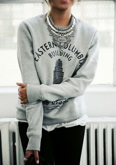 Sweatshirt #style Follow me on Instagram @aliparadiso ✔ Real-life daily outfits, no endorsements, just my own style #details #fashion #inspiration #style #streetstyle