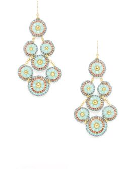 Miguel Ases Green Topaz Beaded Flower Earrings on shopstyle.com