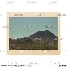 Nevada Mountains Wood Print