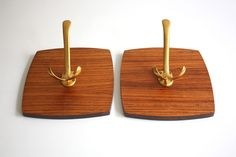 Mid Century coat rack wooden / vintage wall hooks / German furniture / entrance / entry / hallway decoration / 50s 60s / home accessory /