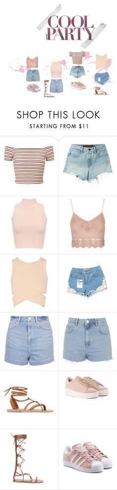 """COOL PARTY OUTFITS"" by ofeksofer51 on Polyvore featuring Miss Selfridge, T By Alexander Wang, WearAll, Topshop, Jonathan Simkhai, Valia Gabriel and adidas Originals"
