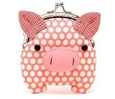 Little salmon pink piggy clutch purse by misala on Etsy.cutest coin purse ever! This Little Piggy, Little Pigs, Diy Pochette, Tout Rose, Cute Pigs, Change Purse, Handmade Bags, Clutch Purse, Purses And Bags