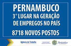 Pernambuco é o terceiro estado que mais gera emprego no país. Garanhuns estagnou! https://swki.me/781zkfZa  SAIBA MAIS!