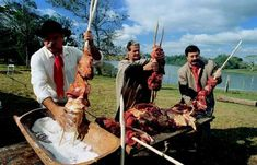 Another picture of the typical barbecue from Rio Grande do Sul State nowadays. Brazil