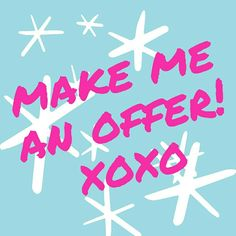 All reasonable offers accepted! My main goal is to have a successful closet and happy customers, so please make me an offer and ask any questions you may have! Thanks! ! Xoxo Accessories