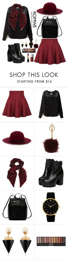 """""""Romwe 8"""" by amra-f ❤ liked on Polyvore featuring Warehouse, Michael Kors, Temperley London, DKNY, Larsson & Jennings, Vita Fede and Bobbi Brown Cosmetics"""
