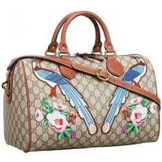 01c51fd8e5be8d Gucci Boston Bag Garden Souvenir Birds And Flower Detail 18927470 Boston Bag,  Designer Shoulder Bags