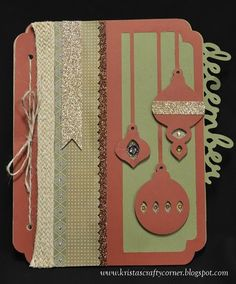 Christmas mini-album using CTMH Cricut Artbooking - Krista H.