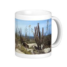 Aruba Landscape With Cactus Mug    •   This design is available on t-shirts, hats, mugs, buttons, key chains and much more    •   Please check out our others designs and products at www.zazzle.com/zzl_322881145212327*
