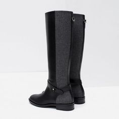 COMBINED HIGH BOOTS from Zara
