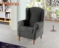 El sillón Milena de HOME es un modelo de estilo clásico y elegante, disponible en varios tonos de tela.    Tenemos un gran stock de este modelo fabricado sin tapizar. Por eso, le ofrecemos un precio irrepetible y la ventaja de que, al no estar tapizado, puede elegir el acabado final. Con HOME personaliza su sofá y lo compra a precio de outlet.