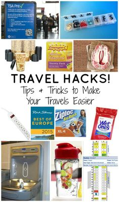 travel hacks - tips and tricks to make your travels easier. Next time you and your family travel try some of these ideas!