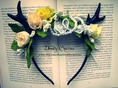 Hey, I found this really awesome Etsy listing at http://www.etsy.com/listing/164588394/elegant-enchanted-mori-goth-deer-horns