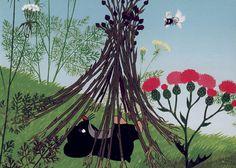 (2014-10) Muldvarpen ligger mellem blomster