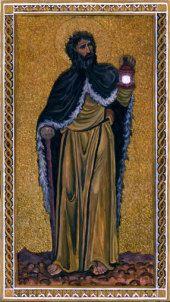 Byzantine Tarot,The Hermit