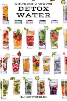 Detox water recipes to make to detox and cleanse your body as you lose weight. - Intermittent Fasting-Gut Health-Weight Loss - Detox water recipes to make to detox and cleanse your body as you lose weight. Full Body Detox, Detox Your Body, Healthy Detox, Healthy Drinks, Easy Detox, Healthy Water, Healthy Juices, Healthy Fruits, Detox Juice Recipes