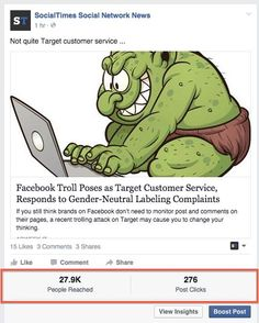 Facebook Page Admins Seeing Reach, Clicks Under Page Posts