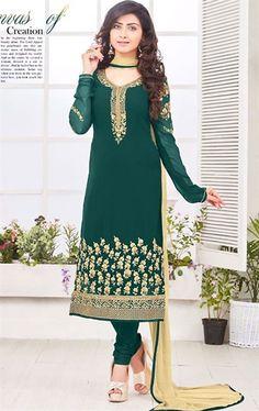 Captivating Bottle Green Ethnic Salwar Suit