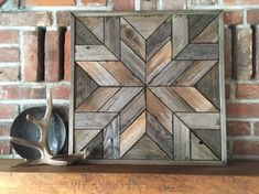 Excited to share this item from my shop: Reclaimed wood wall art - Wood wall quit - Wood barn star NORTH STAR - Create a rustic and warm focal point in your home with this reclaimed wood wall art star.