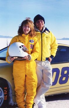 "Car 108 - 27th race car - 1991 Nissan 300ZX Turbo - World of Speed 9-26-96 - Ellen was awarded the Utah Salt Flats Racing Association ""Fast Lady 1996"" for her 159 MPH run."