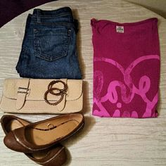 Love PINK shirt Vintage worn love pink tee. Says small but goes up to a medium, as it was made flowy. Excellent condition!   * Bundles  * Custom Bundles Available upon request  * No trades  * Guaranteed next day or same day shipping! PINK Victoria's Secret Tops Tees - Short Sleeve