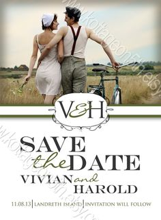 Timeless  Save the Date  Printable Engagement or by kottageon5th, $17.00