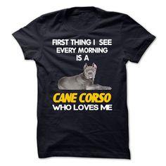 I See My Cane Corso Every Morning T Shirt, Hoodie, Sweatshirt