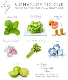 Meghan Markle's Perfect Pimms Cup Easy Drinks To Make, Fun Drinks, Beverages, Pimms Cocktail, The Tig Meghan Markle, Cherry Liqueur, New York Food, Personal Recipe, Summer Cocktails