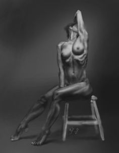Female bodyscape (digital painting)