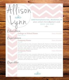 customized resume the allison lynn by 27hourdesigns on etsy 4500