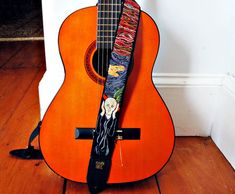 The Scream Custom Hand Embroidered Guitar Strap  by Meoneil