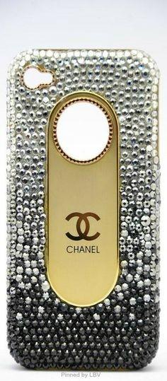 Swarovski crystals fashion Chanel iPhone   LBV ♥✤