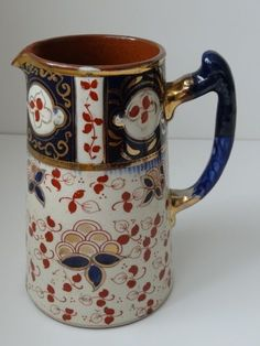1101 best images about Antique English Imari-style porcelain and ironstone  on Pinterest | Porcelain vase, Tea cups and Masons. >1101 best images about Antique English Imari-style porcelain and ironstone on Pinterest | Porcelain vase, Tea cups and Masons pinterest.com480 × 640Search by image ANTIQUE GAUDY WELSH JUG WITH BLUE AND RED FLOWERS