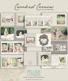 10x10 Album Template - Crooked Corner Press Printed Album