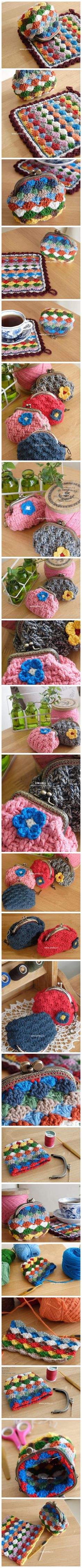 Love these little purses! The stitch is so versatile