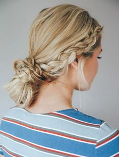 Double Dutch Braid Bun - Easy Back to School Hairstyles to Let You Sleep In Later - Photos Heatless Hairstyles, Teen Hairstyles, Summer Hairstyles, Wedding Hairstyles, Amazing Hairstyles, Natural Hairstyles, Cute Hairstyles With Braids, Simple Braided Hairstyles, Chinese Hairstyles