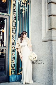 Bridal Portrait at San Francisco City Hall. Hair and makeup by @TiffanyConcklin #SanFranciscoCityHallWedding #sanfranciscoweddingphotographer