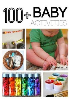 100 Cool and Exciting Baby Activities: Sensory Play, Motor Development, Outdoor Play, Science, Math and Music Fun, DIY Baby Toys, Busy Boxes, and More http://lemonlimeadventures.com/ultimate-guide-baby-activities/