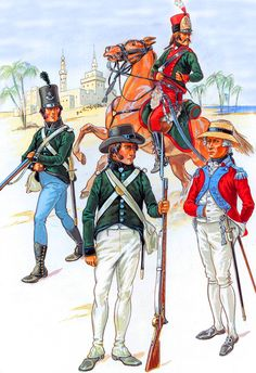 Émigré and Foreign Troops in British Service - Corsican Rangers, Watteville's Regt, Roll's Regt and Hompesch's Mounted Rifles British Uniforms, Empire, Army Uniform, Armada, French Revolution, History Photos, Napoleonic Wars, Historical Pictures, British Army
