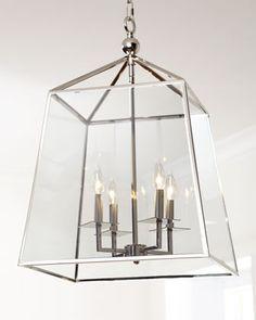 Square 4-Light Glass Lantern by Regina-Andrew Design at Neiman Marcus.