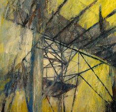 'Pylon (detail)' by Karen Laird - Painting from United Kingdom