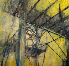 pylon detail (oil on board) by Karen Laird