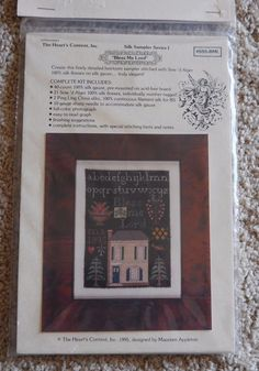 Heart's Content Bless Me Lord Cross Stitch Sampler Kit Silk Floss New Unopened #TheHeartsContent #Sampler