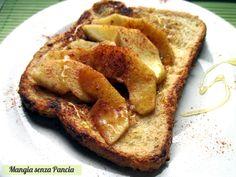 French toast con mele e cannella, senza burro o olio